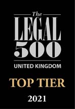 Legal 500 Top Tier Firm 2021